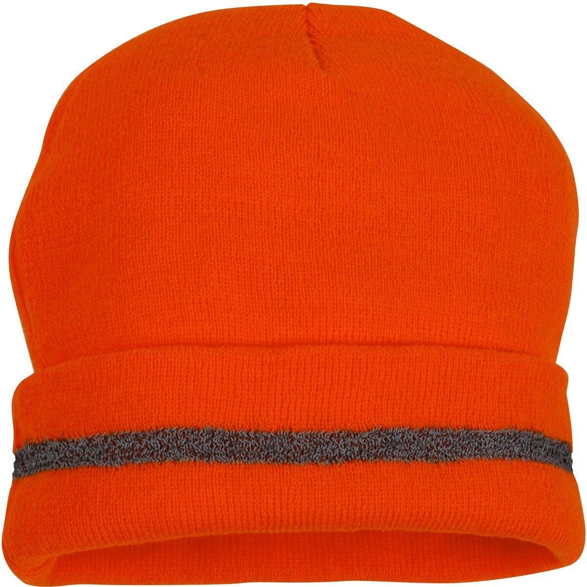 Pyramex RH110 Hi-Vis Reflective Beanie W/Reflective Stripe Yellow&Orange- 1 Size Clothing, Shoes & Accessories