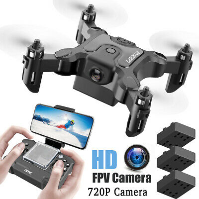 Mini Drone Selfi Foldable Quadcopter Wifi FPV 4K HD Arm RC Dual HD Camera US