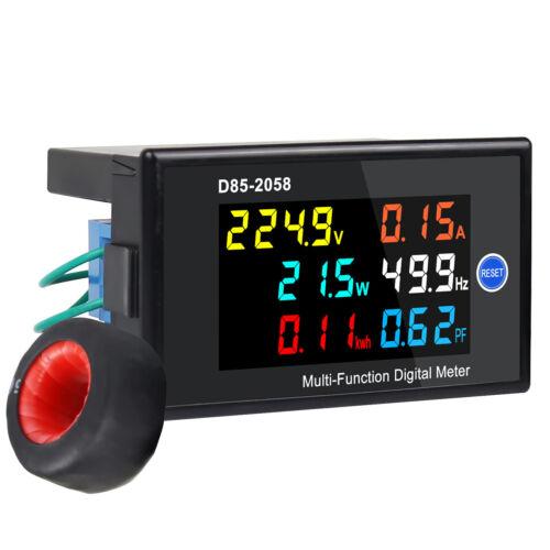 Digital LCD Voltage Current Energy Power Panel Meter AC 40-300V 100A Voltmeter