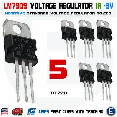 5pcs Lm7909 Negative 9 Volt Regulator 1 Amp To220 - L7909 7909 Ic Usa