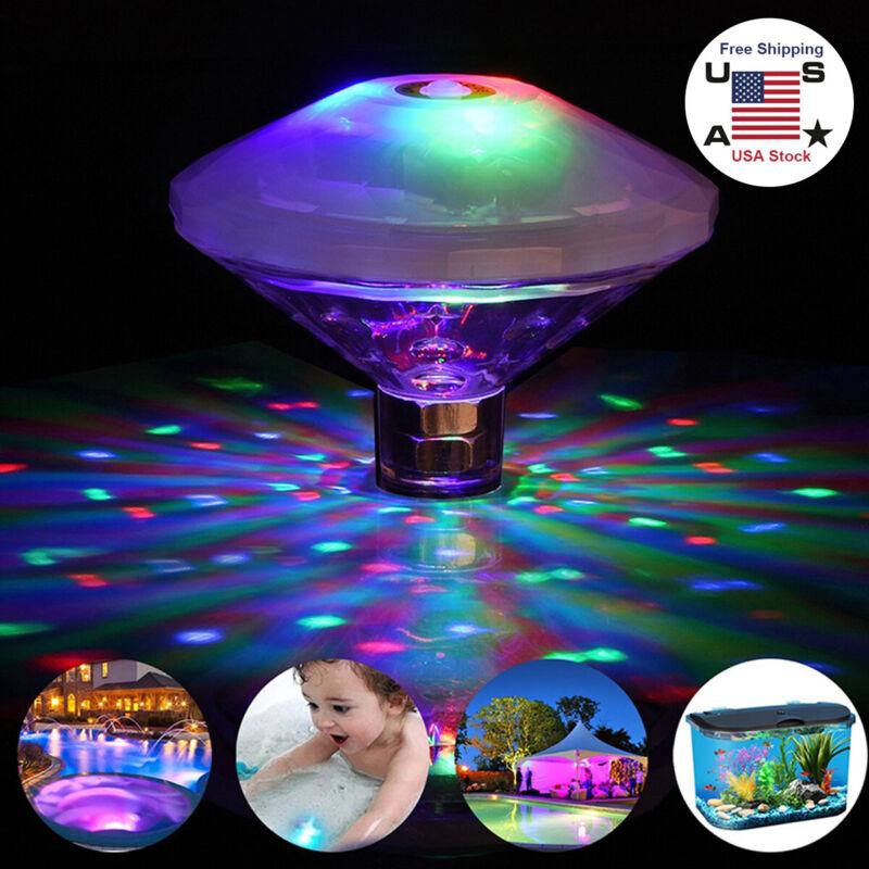 Floating Underwater RGB LED Disco Light Glow Show Swimming Pool Hot Tub Spa Lamp