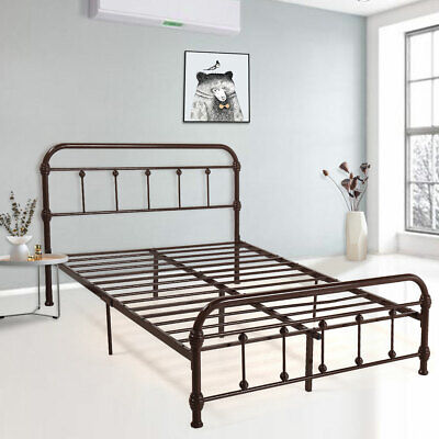 Full Size Chic Farmhouse Victorian Classic Rustic Country Style Iron Bed