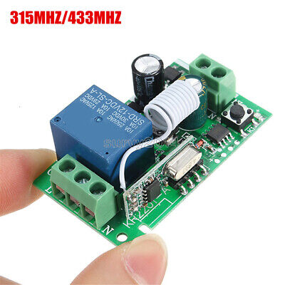 315433mhz 220v 1ch Wireless Rf Remote Receiver Transmitter Relay Control Switch