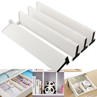 2-4 Adjustable Drawer Storage Drawer Dividers Plastic Office Drawers Organisers