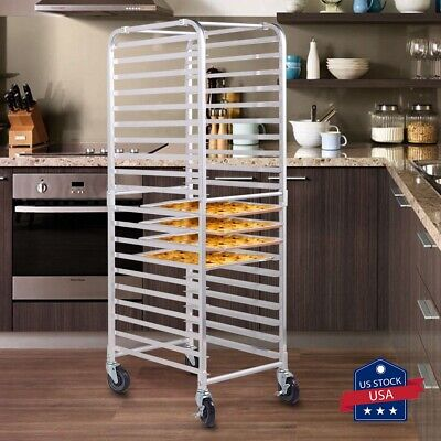 Bakery Racks 20-tier Commercial Kitchen Bun Pan Sheet Aluminum Pan Rack Wwheels