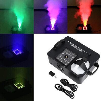 24 RGB LED Fog Machine 3in1 1500W Party DMX Wireless DJ Stage Smoke Fogger - Fog Machine Party