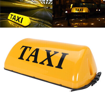 12v Taxi Roof Sign Top Topper Light Car Magnetic Sign Lamp Led Waterproof