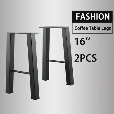Black 16'' Industry Table Leg Metal Steel Chair Bench Legs DIY furniture