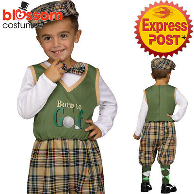 CK1112 Retro Lil Golfer Baby Toddler Halloween Sports Fancy Golf Costume Hat - Sports Halloween Costume Toddler