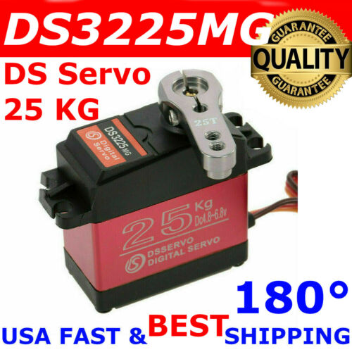 DSSERVO DS3225MG 25KG 180° Waterproof Metal Gear High Torque Digital Servo RC US
