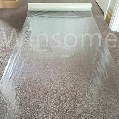 Clear Carpet Floor Protector Self Adhesive Temporary Waterproof Dust Sheet Roll
