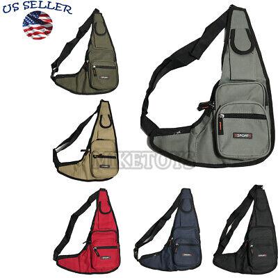 Mens Womens Sling Bag Chest Shoulder Backpack Fanny Pack Crossbody Travel Sport