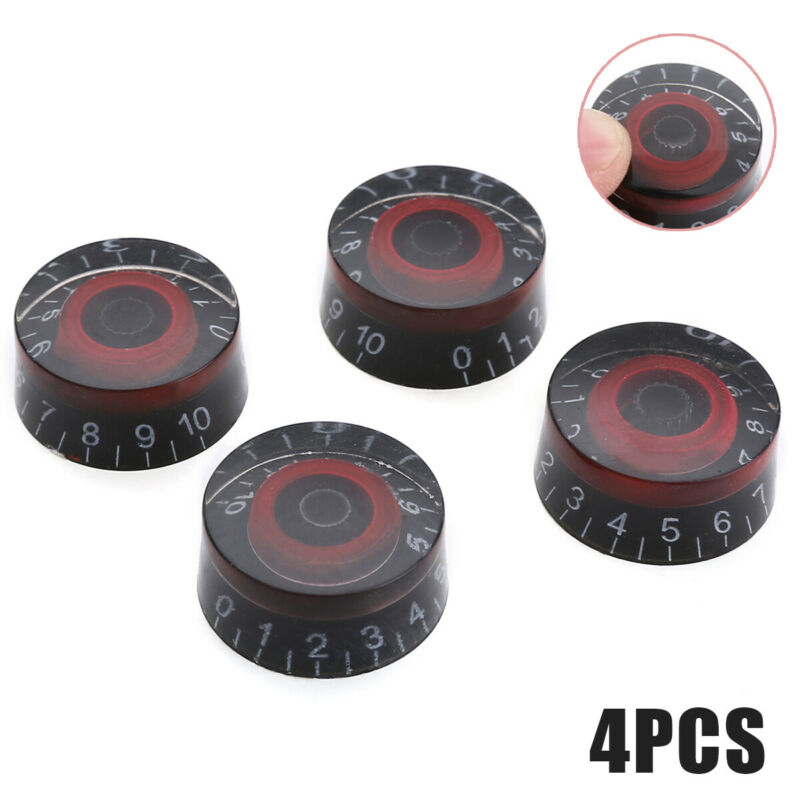 4x Replacement Black Red Speed Control Knobs Button For LP E