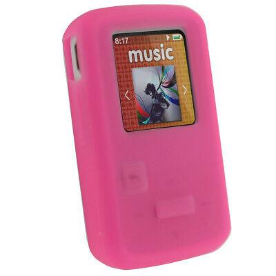 Pink Silicone Skin Case for Sandisk Sansa Clip Zip 8GB MP3 Player Cover Holder Pink Mp3 Sansa Clip