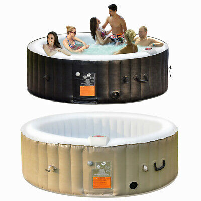 Inflatable Lazy Spa Bubble Massage Spa Hot Tub 6 Person Relaxing Garden Outdoor