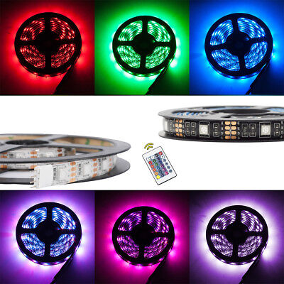 0.5M/ 1M/ 2M Battery Powered RGB LED Strip Light TV Back Light Colour Changing