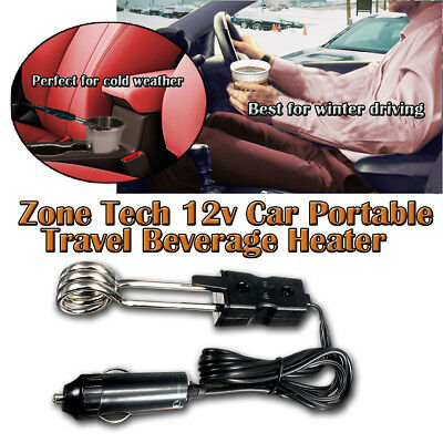 Zone Tech 12v Car Portable Travel Beverage Water Heater Warmer Coffee Cup