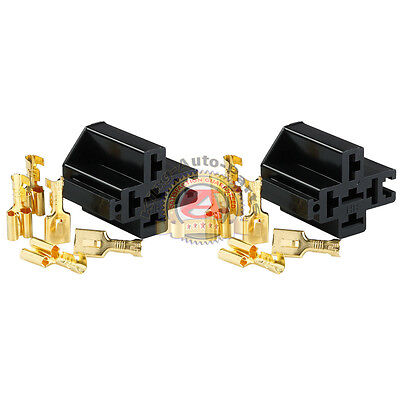 2pcs Relay Socket With Connector Crimp Type Connector Interlocking