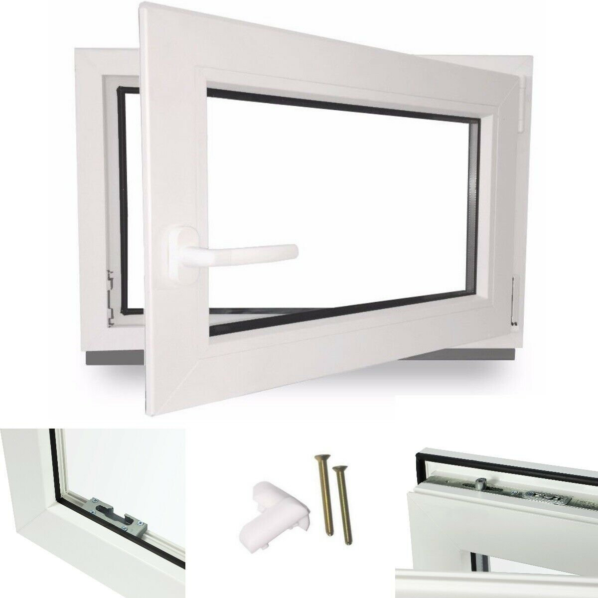 Fenster Kellerfenster Kunststofffenster Garagenfenster Dreh Kipp Lagerware