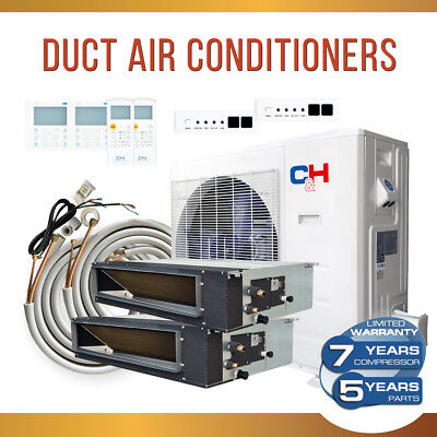 Two Zone 18k + 18k Slim Duct Concealed Air Conditioner Commercial 21 SEER +Kit