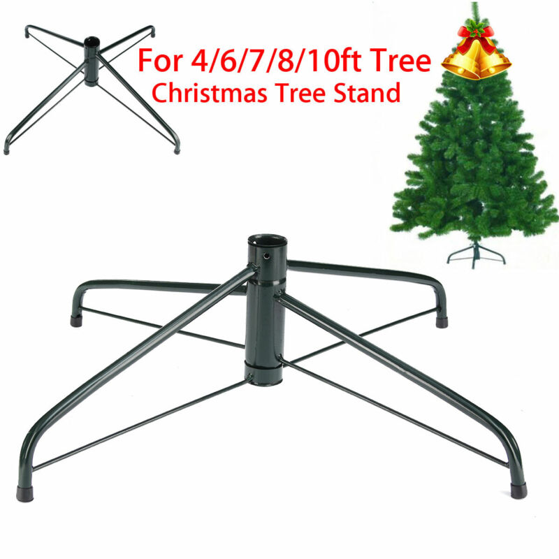 4Ft Christmas Tree Stand Green Metal Holder Mount Base Cast Iron Stand Ornament