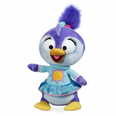 "DISNEY STORE MUPPET BABIES SUMMER PLUSH 13"" H PENGUIN IN SWEATER WITH SUN ON IT"
