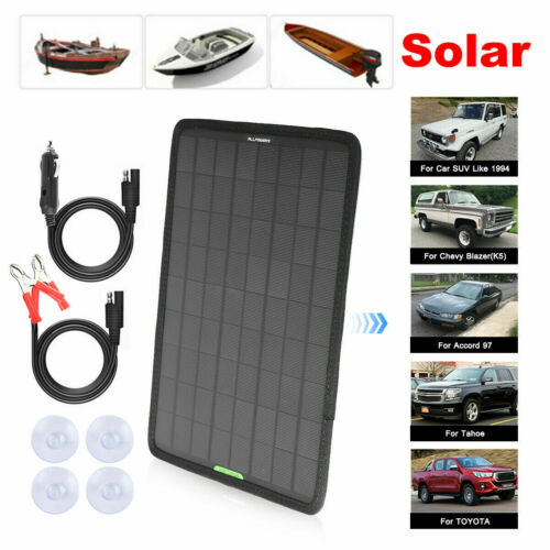 50W 12V Solar Panel Kit Solar Charger For Car RV Boat Marine Battery Charger USA