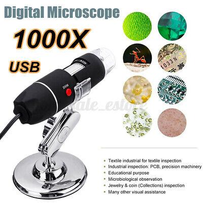 1000x Usb Digital Microscope 8 Led Endoscope Camera Magnifier For
