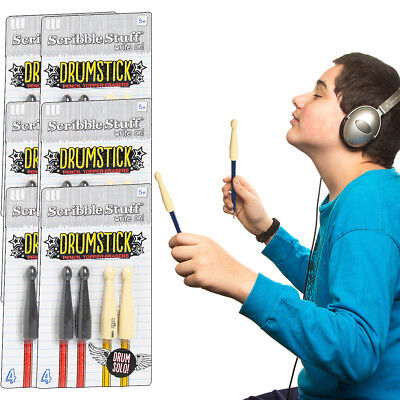 24pk Drumstick Pencil Topper Erasers Fun Gift Bag Fillers Party Favors Bulk Pack - Bag Toppers
