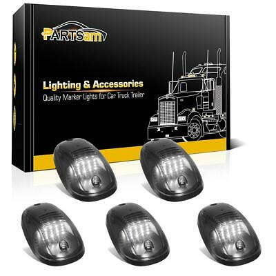 5x Top Roof Smoke Cab Marker 16 White LED Lights For Dodge Ram 2500 3500 03-18