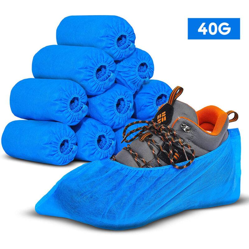 100Pcs Blue Disposable Shoe Covers Non-woven Non-Slip Resistant Dust proof
