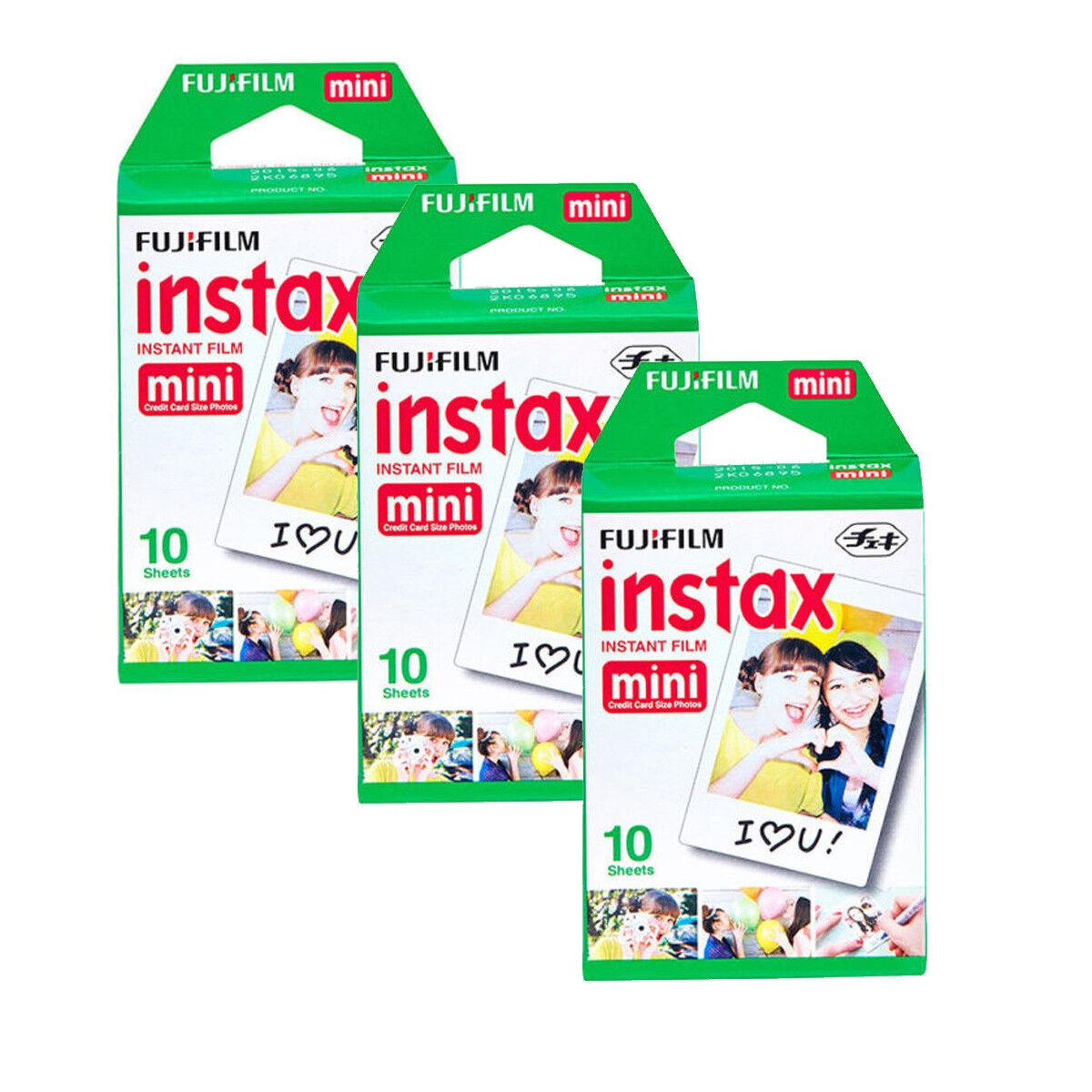 Fujifilm Instax Mini Instant Film 30 Prints for Fuji 90, 9, 8, 7S, 50S 25 Camera
