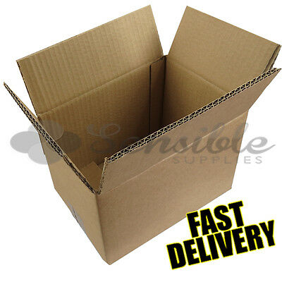 5 x STRONG DOUBLE WALL CARDBOARD HOUSE MOVING/SHIPPING BOXES 14 x 10 x 12