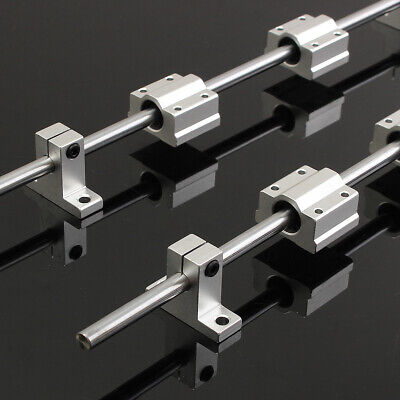 2 Set 8mm 400mm Linear Shaft Rod Rail Scs8uu Bearing Blocks For Sk8 3d