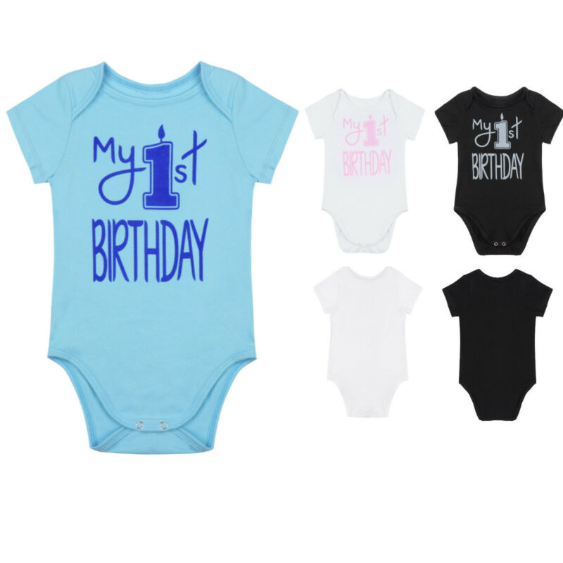 New Infants #1 Birthday T Shirt Aqua Boy Or Girl By Carters 2 Sizes