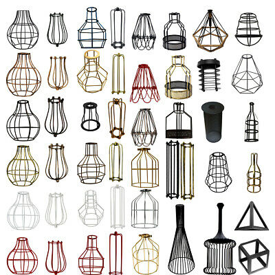 Vintage Industrial Metal Cage Ceiling Pendant Light Shade easy fit lampshade UK