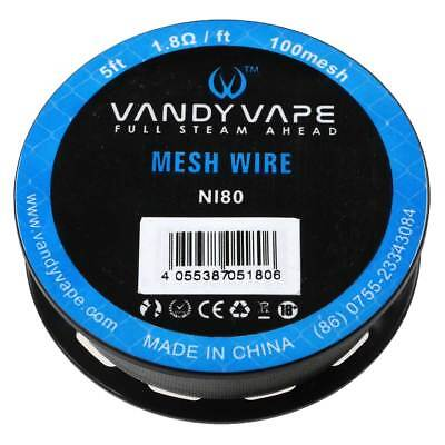 Coil Wickeldraht Heizwendel VandyVape Ni80 Mesh 100 Wire 152cm Nickel Draht TOP! Nickel Wire Mesh