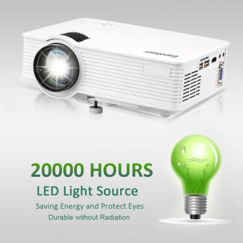 3D Full HD 1080P Mini Projector LED Multimedia Home Theater USB HDMI 7000 Lumens