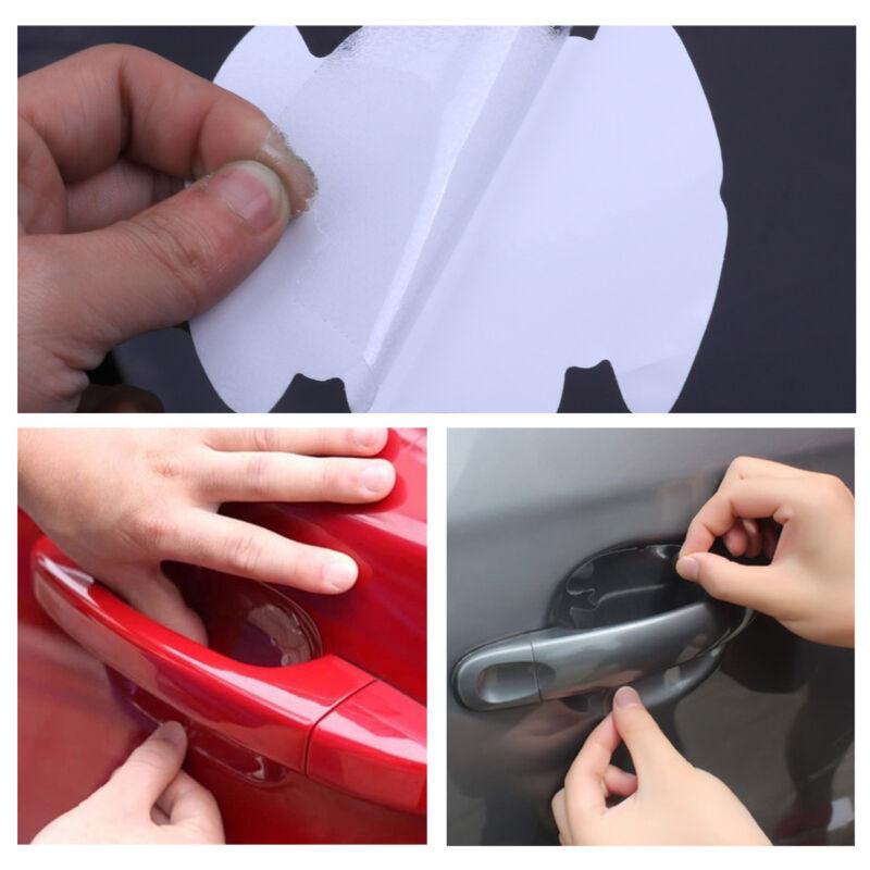 8PCS Car Door Handle Films Sticker Protector Anti Scratch Protect Accessories
