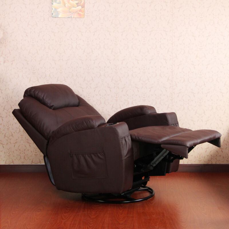 PU Leather Massage Recliner Chair With Heated Option Control Ergonomic Executive