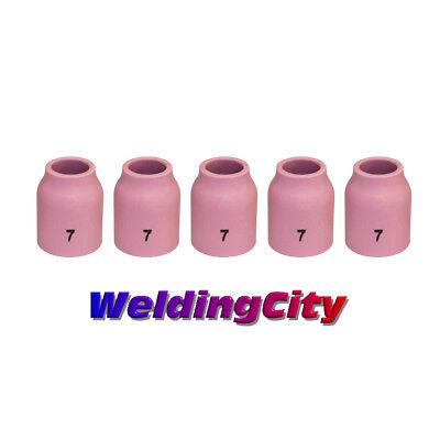 5-pk Tig Welding Ceramic Gas Lens Cup 53n61 7 Torch 920 Us Seller Fast Ship