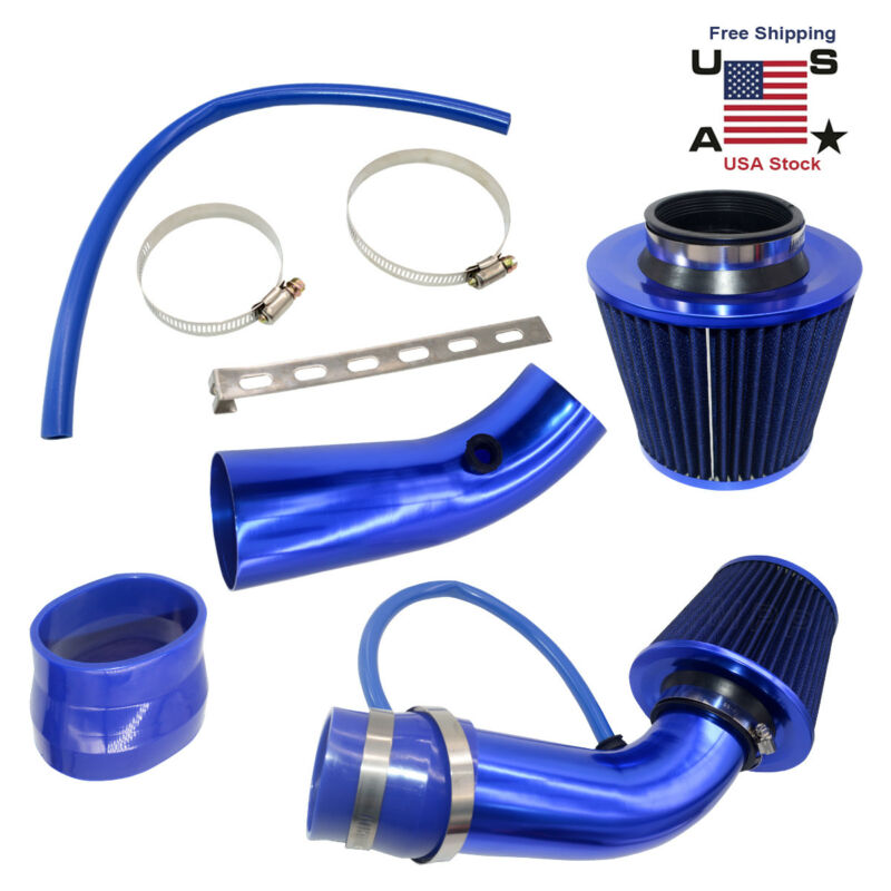 "3"" Cold Air Intake Kit Air Intake Filter With Clamp &Accessories Alumimum Pipe"