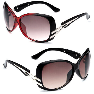 Round Butterfly Womens Celebrity Sunglasses Red Black Gold Fashion Ladies (Black And Red Sunglasses)