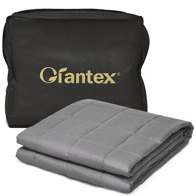 17 lbs Weighted Blankets Queen/King Size 100% Cotton w/ Glas