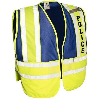 Ml Kishigo Reflective Police Pro Series Safety Vest Limeblue