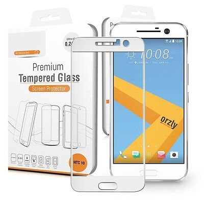 HTC 10 One M10 Reward White Full Cover Tempered Glass Screen Protector Guard