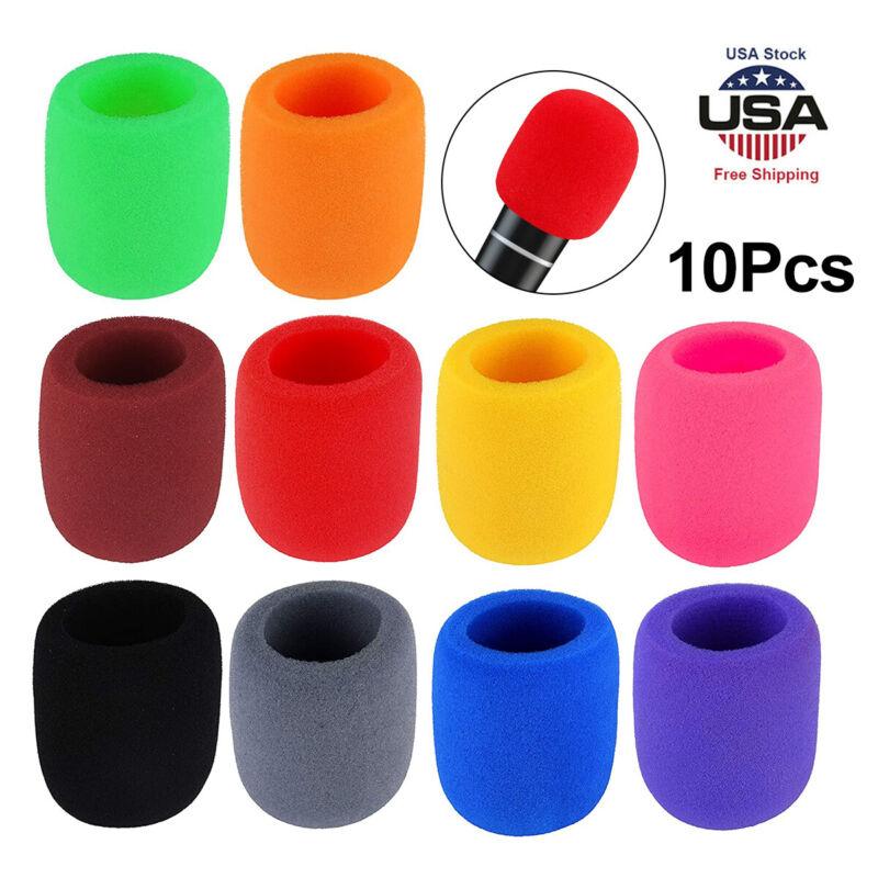 10 PCS Colors Handheld Stage Microphone Windscreen Foam Mic Cover Karaoke New