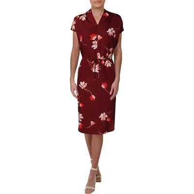 Lauren Ralph Lauren Bolorma Women's Floral Print Blouson Cap Sleeve Shirtdress