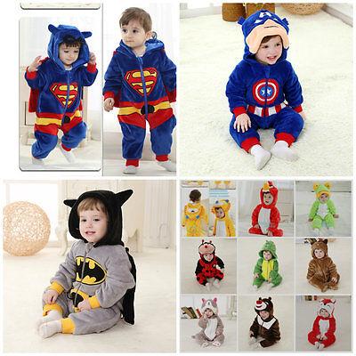 Neu Deluxe Kostüm Kleinkind Superman American Kappe Batman 6-36months