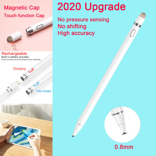 Rechargeable Sensitive Active Capacitive Touch Screen Pen Pencil Stylus For iPad